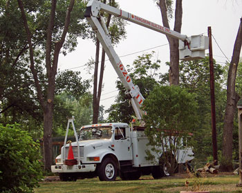 Installation of private (residential) utility poles